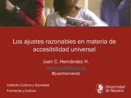Los ajustes razonables en materia de Accesibilidad Universal