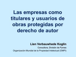 Las empresas como titulares y usuarios de obras protegidas