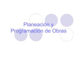 Planeación y Programación de Obras