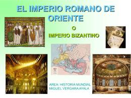 el imperio bizantino o romano de oriente