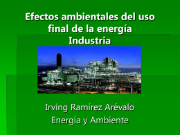 Efectos ambientales del uso final de la energía, industria