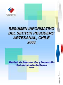 resumen informativo del sector pesquero artesanal, chile 2008