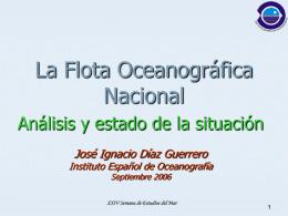 La Flota Oceanográfica Nacional - Asociación de Estudios del Mar