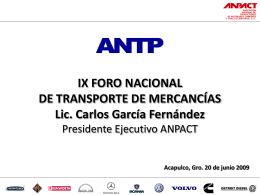 Foro Nacional ANPACT