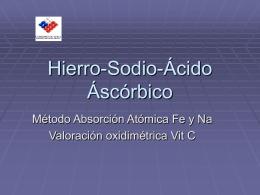 Métodos aplicados para hierro y sodio. Ing. Emilia Raymond