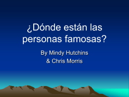 ¿Dónde están? - Melinda Hutchins Portfolio