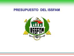 Presupuesto del ISSSFAM