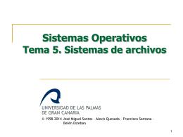 FSO-05-Sistemas de archivos - Servidor de Información de