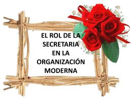 el rol de la secretaria en la organización moderna