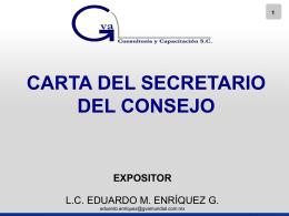 AG Carta SECRETARIO - Auditoría