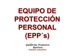 EQUIPO DE PROTECCIÓN PERSONAL (EPP´s)