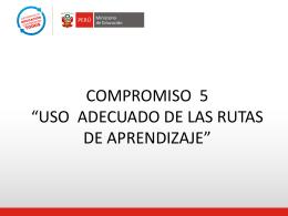 PPT Compromiso 5 - área de gestión pedagógica ugel 01