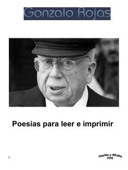 Gonzalo Rojas Poesias para imprimir