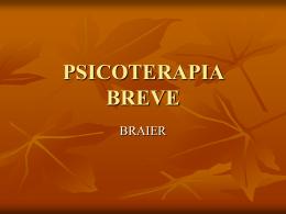 TÉCNICA PSICOTERAPIA BREVE de BRAIER