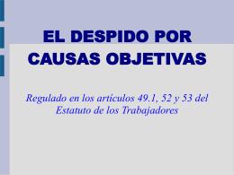 el despido por causas objetivas - El blog de Wilfredo Sanguineti