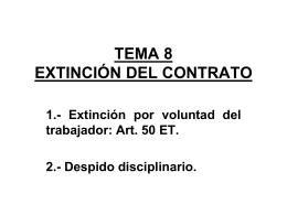 Extinción por voluntad del trabajador