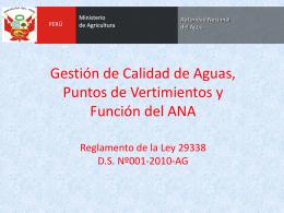 Presentación Autoridad Nacional del Agua