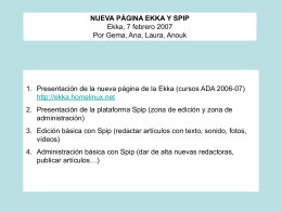 EDICIÓN EN SPIP - SinDominio.Net