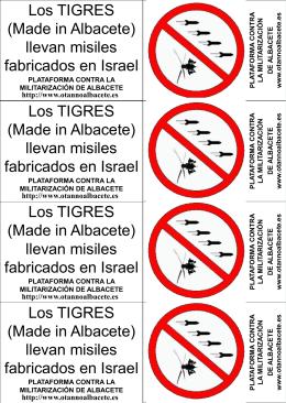Panfletos concentración Gaza - Plataforma contra la Militarización