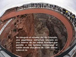 El Mirador sobre el Gran Cañón del Colorado