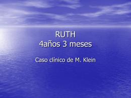 RUTH 4años 3 meses - Principios de Psicoterapia