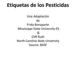 Pesticide Labels por Cliff Ruth & Frida Bonaparte