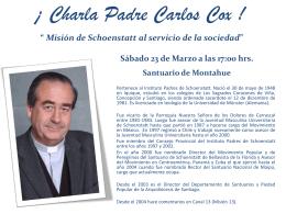 """INVITACIÓN """" Misión de Schöenstatt al servicio de la sociedad"""""""