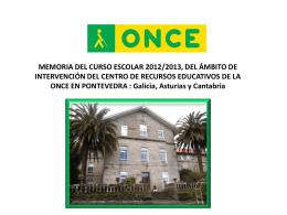Memoria 2012-2013 (Archivo ) - Web de Educación de la ONCE