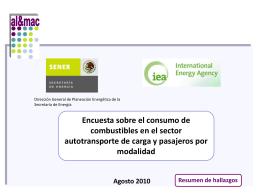 Reporte final - Secretaría de Energía