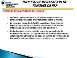 TALLER DE INSTALACION DE TANQUES FRP
