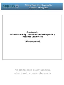 Cuestionario de identificación y caracterización de proyectos y