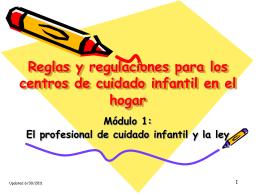 Normativa para los centros de cuidado infantil en el hogar