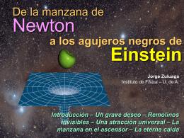 De la manzana de Newton