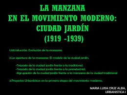 la manzana en el movimiento moderno (1919 -1939)