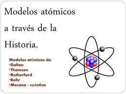 Modelos Atomicos (Química