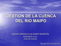 Gestión de las aguas del Río Maipo