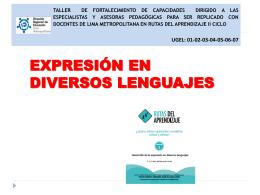 EXPRESION EN DIVERSOS LENGUAJES