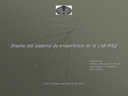 Diseño de las líneas de ensamblaje - PRODUCCION-TS-3346