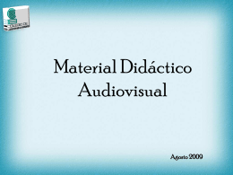 Tipos de Materiales Audiovisuales Serie audiovisual