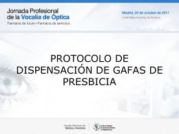 + - protocolo de dispensación de gafas de presbicia