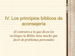4 Principios bíblicos de consejería