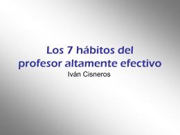 Los 7 hábitos del profesor altamente efectivo