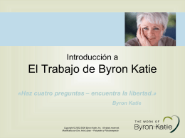 An Introduction to The Work of Byron Katie