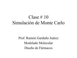 Monte Carlo Metropolis simulation