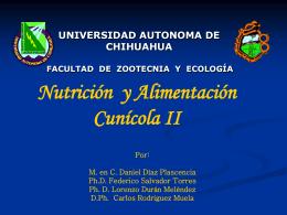 Nutrición y Alimentación Cunícola II