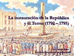 La instauración de la República y el Terror