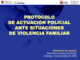 Power Point Protocolo De Actuación Policial