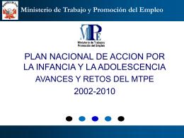 Trabajo Infantil - Ministerio de Trabajo