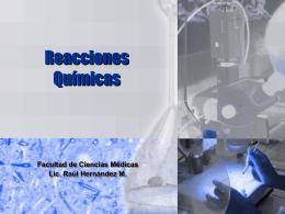 Reacciones Químicas - Presentaciones de Química General