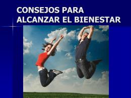 CONSEJOS PARA ALCANZAR EL BIENESTAR